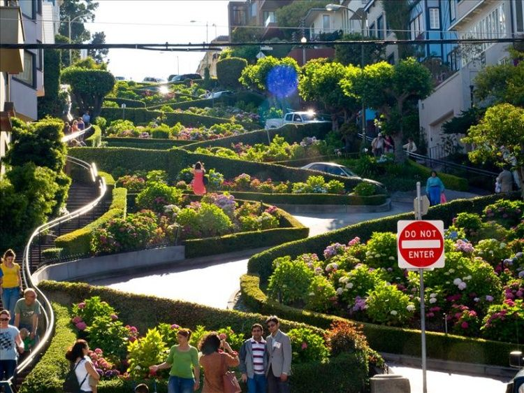 Lombard Street. Saint Francisco. USA