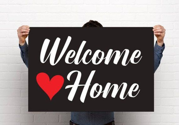 picture regarding Printable Welcome Home Banner known as Printable Welcome Household Poster for Troopers or Missionaries