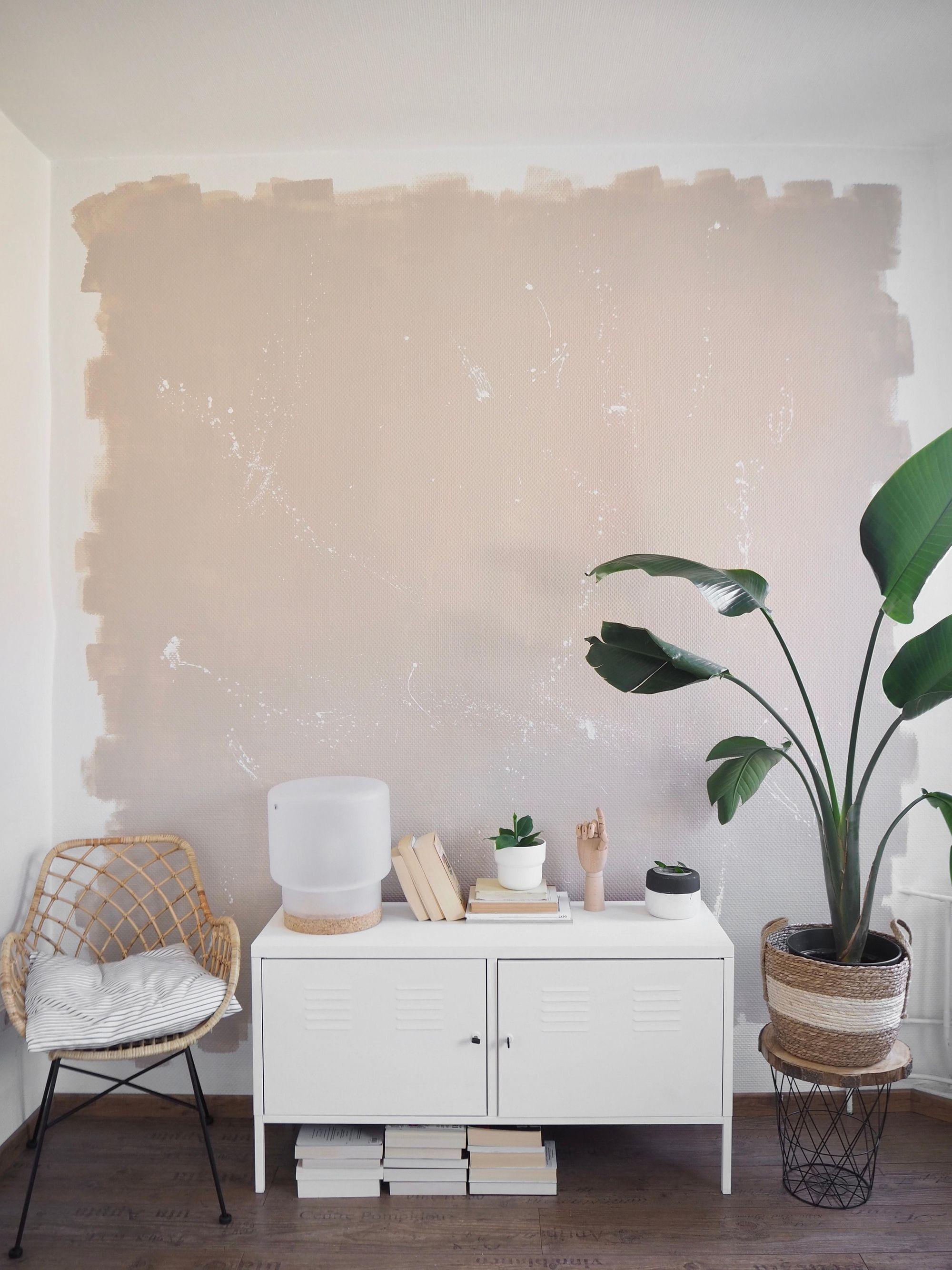 Neue Wandgestaltung Undonelook Wandfarbe Wandgest Wandgestaltung Jugendzimmer Beige Wände Wohnzimmer Streichen