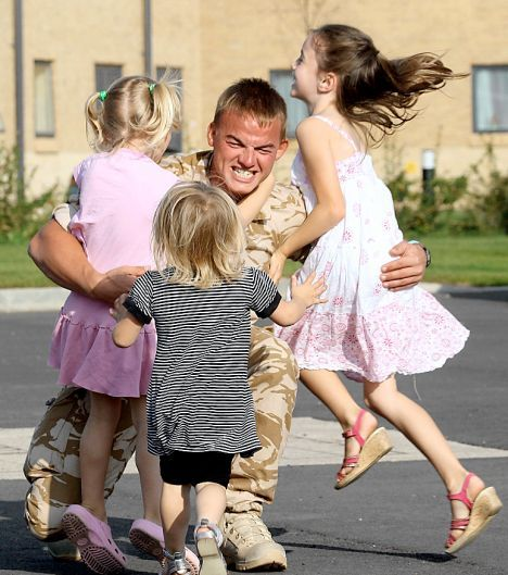 Soldiers Reunited With Their Families Pictures | Getty Images