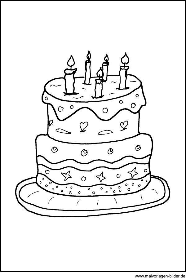 Malvorlage Geburtstagstorte Ausmalbilder Ausmalen