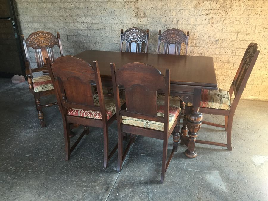 Estate Sale Dining Room Furniture Vintage Bernhardt Furniture Codining Table  Charity Item  San