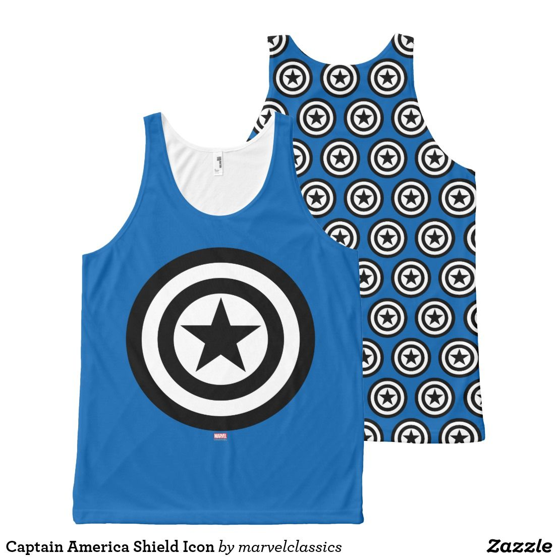 d397b2aa7510c Captain America Shield Icon All-Over-Print Tank Top. Bright and Cool  classic Marvel superhero designs to personalize as a gift for yourself