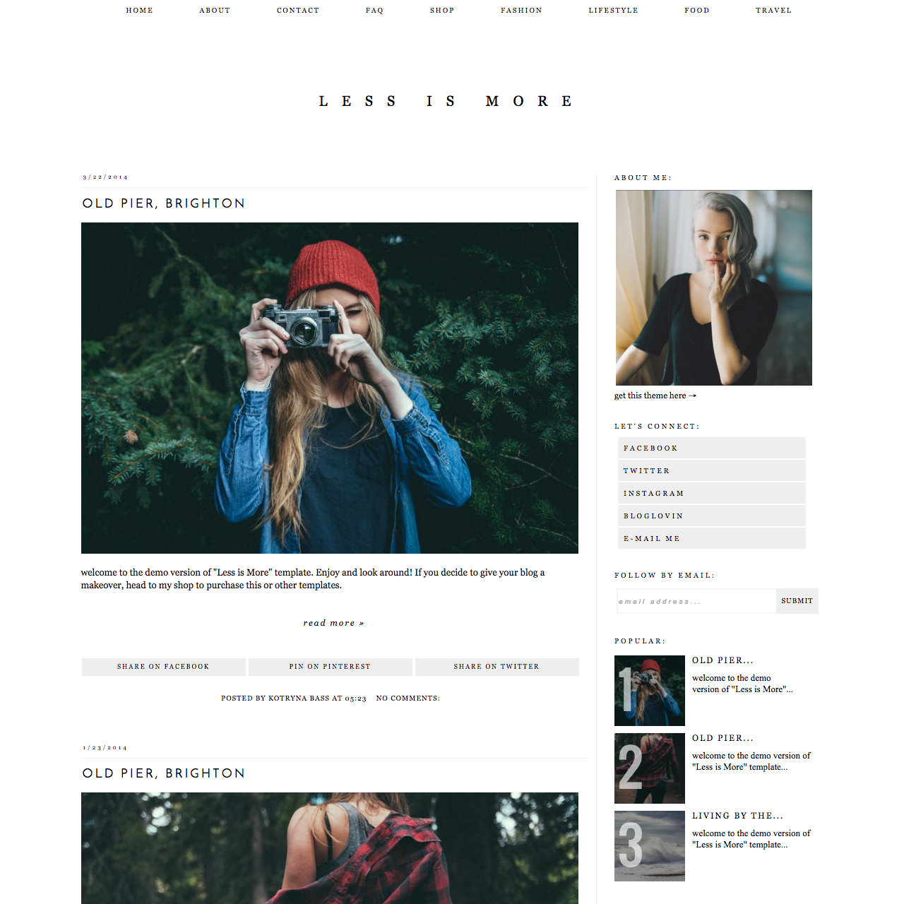 """Blogger Template- Less is More """"Less is More"""" is a responsive ..."""