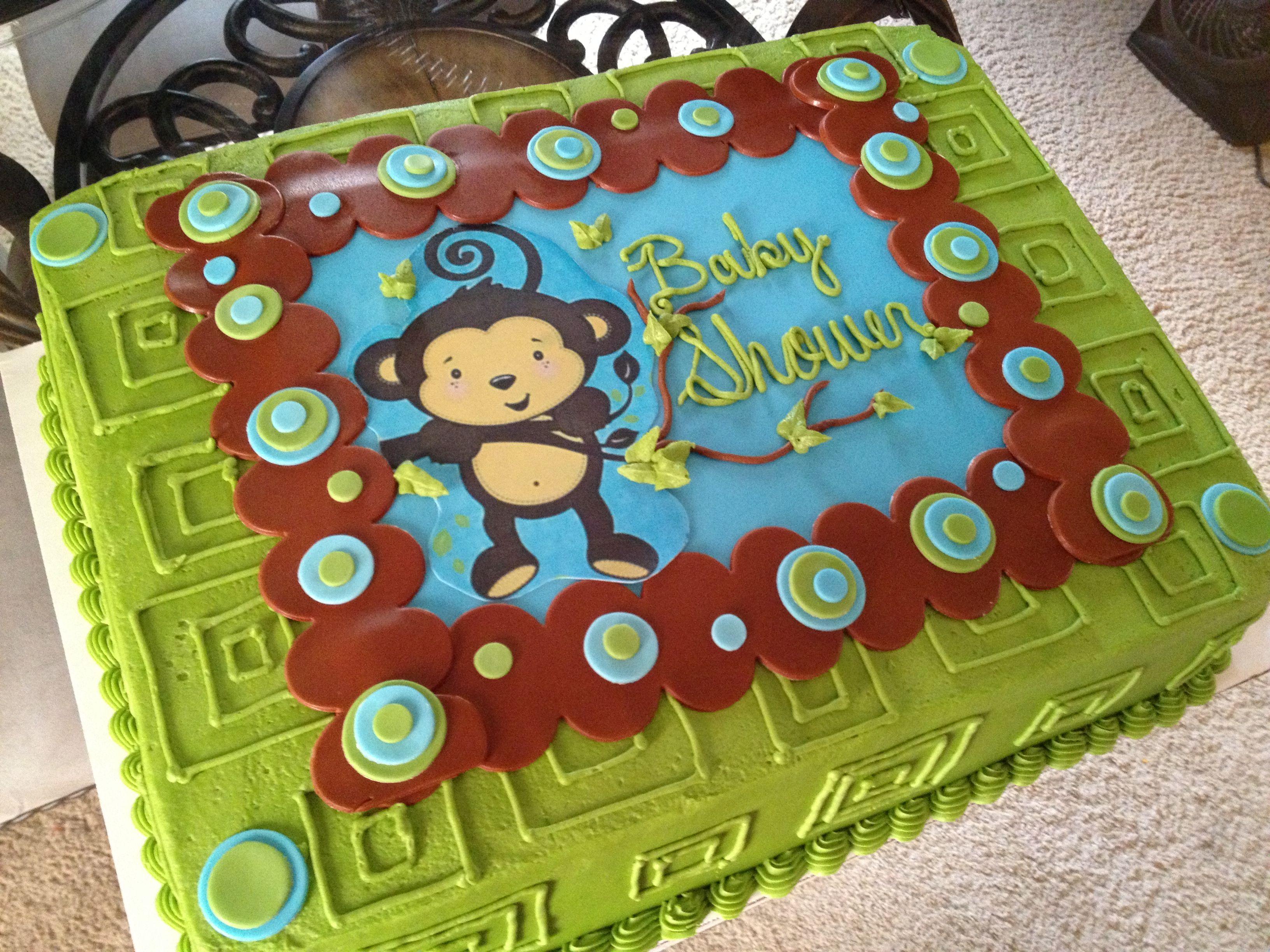 Monkey Baby Shower Cake Cakes By Me Pinterest Monkey Baby
