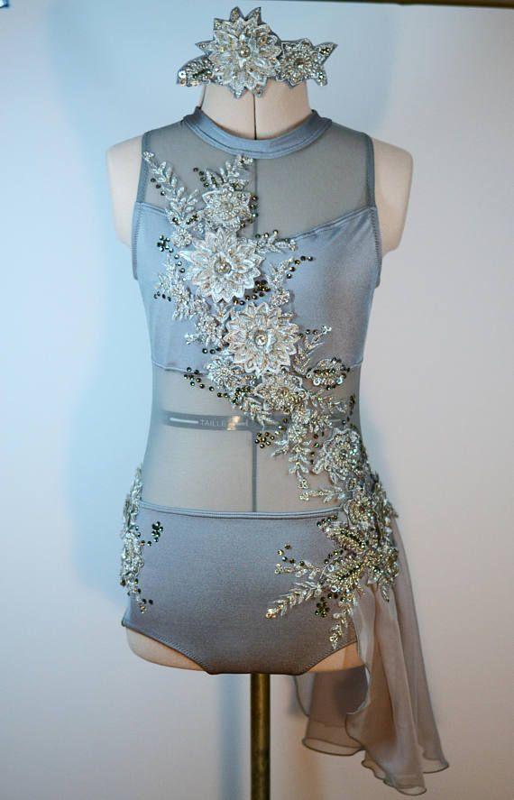Gray Custom Contemporary Dance Costume (Leotard) - Adult Small ...