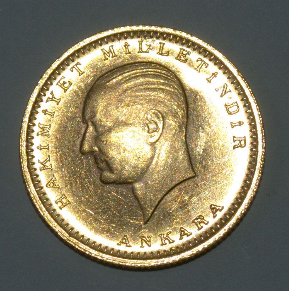 Turkey 100 Kurush 1923 36 Gold Coin Km 855 Turkije