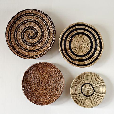 Decorative Bowl Wall Art Spiral West Elm Basket Wall Art