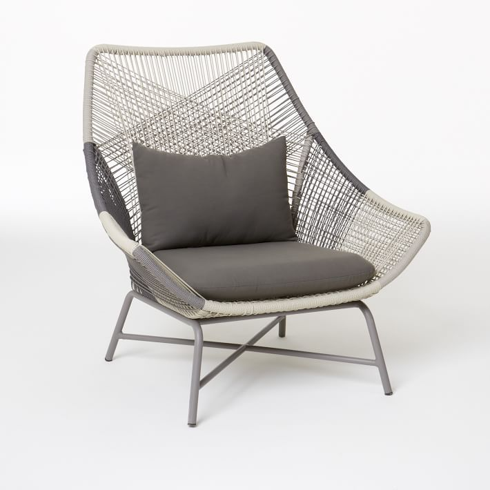 Huron Outdoor Large Lounge Chair & Cushion Lounge chair