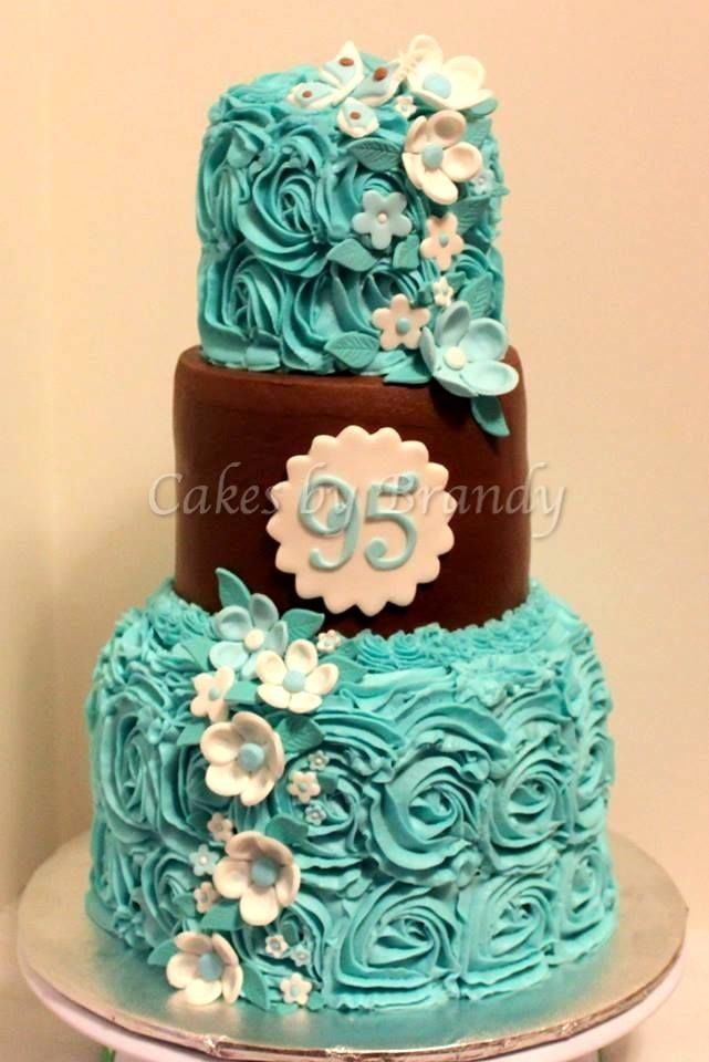 95 Is Beautiful 95th Birthday Cake I Did For A Friends Grandmother