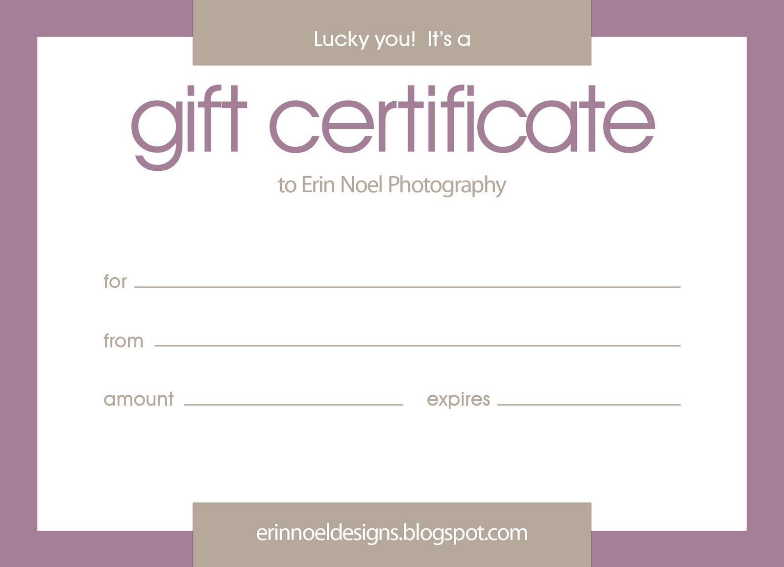 Gift Certificates Gift Certificate Template Word