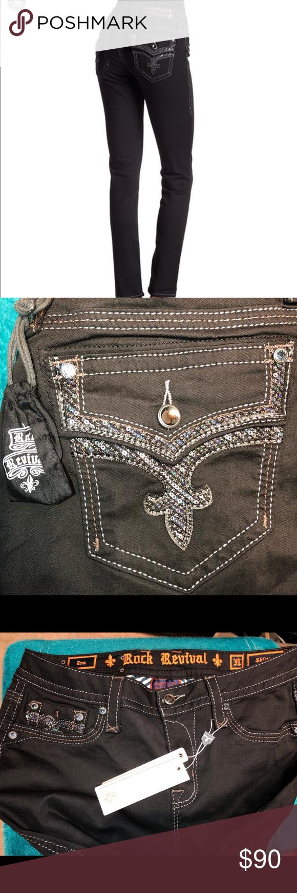 49c96e1013 Rock Revival Metallic stitch skinny jeans Rock Revival Metallic stitch  skinny jeans. NWT. Beautiful