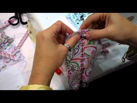 My friend Missy shows a quick serger tissue cover project.