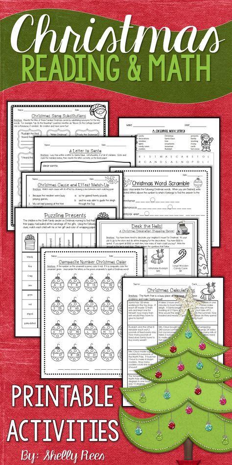 Christmas Reading Christmas Math Worksheets Christmas Maths