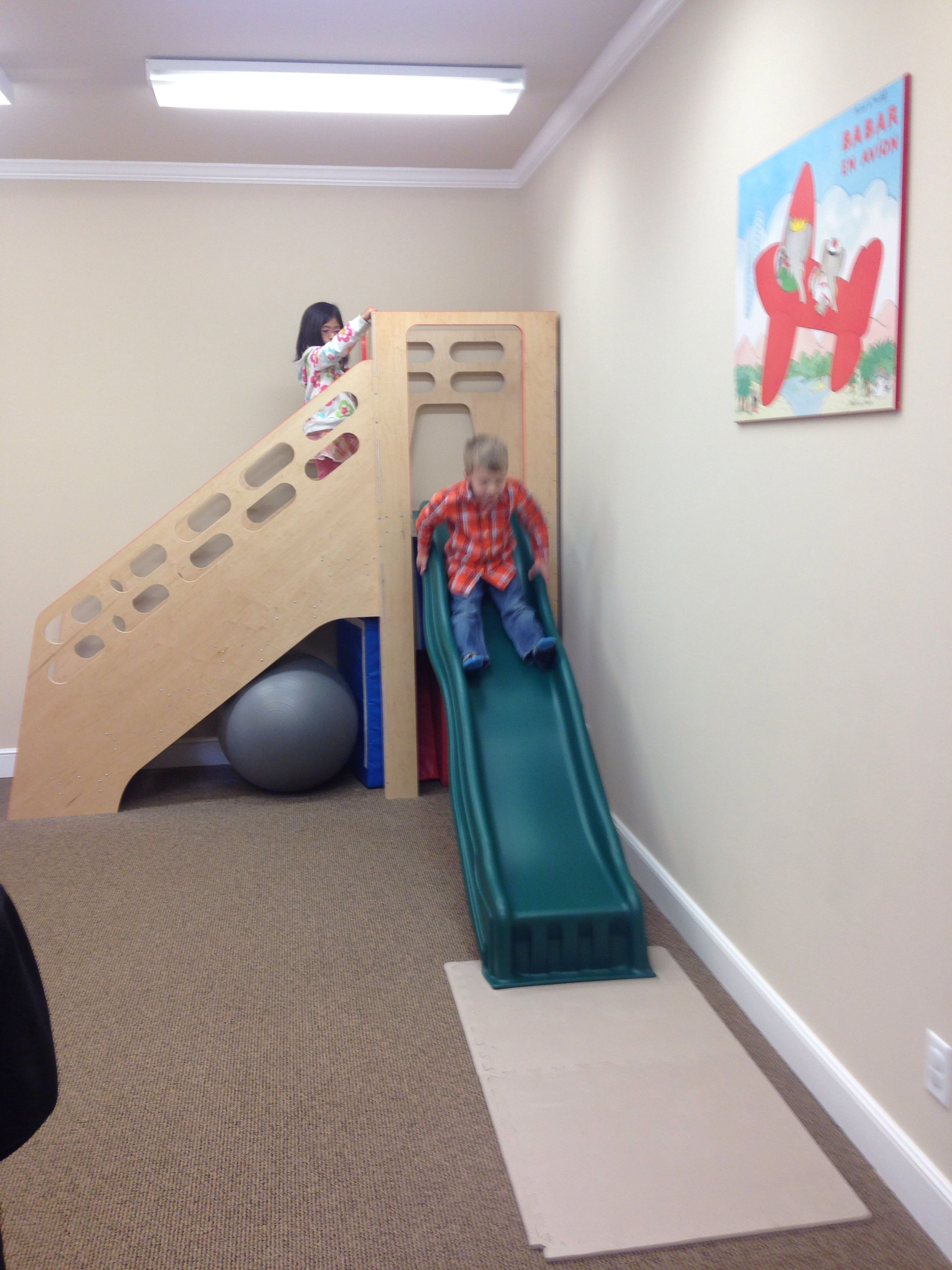 Therapy Stairs And Slide Pediatric Therapy School Ot Sensory Activities