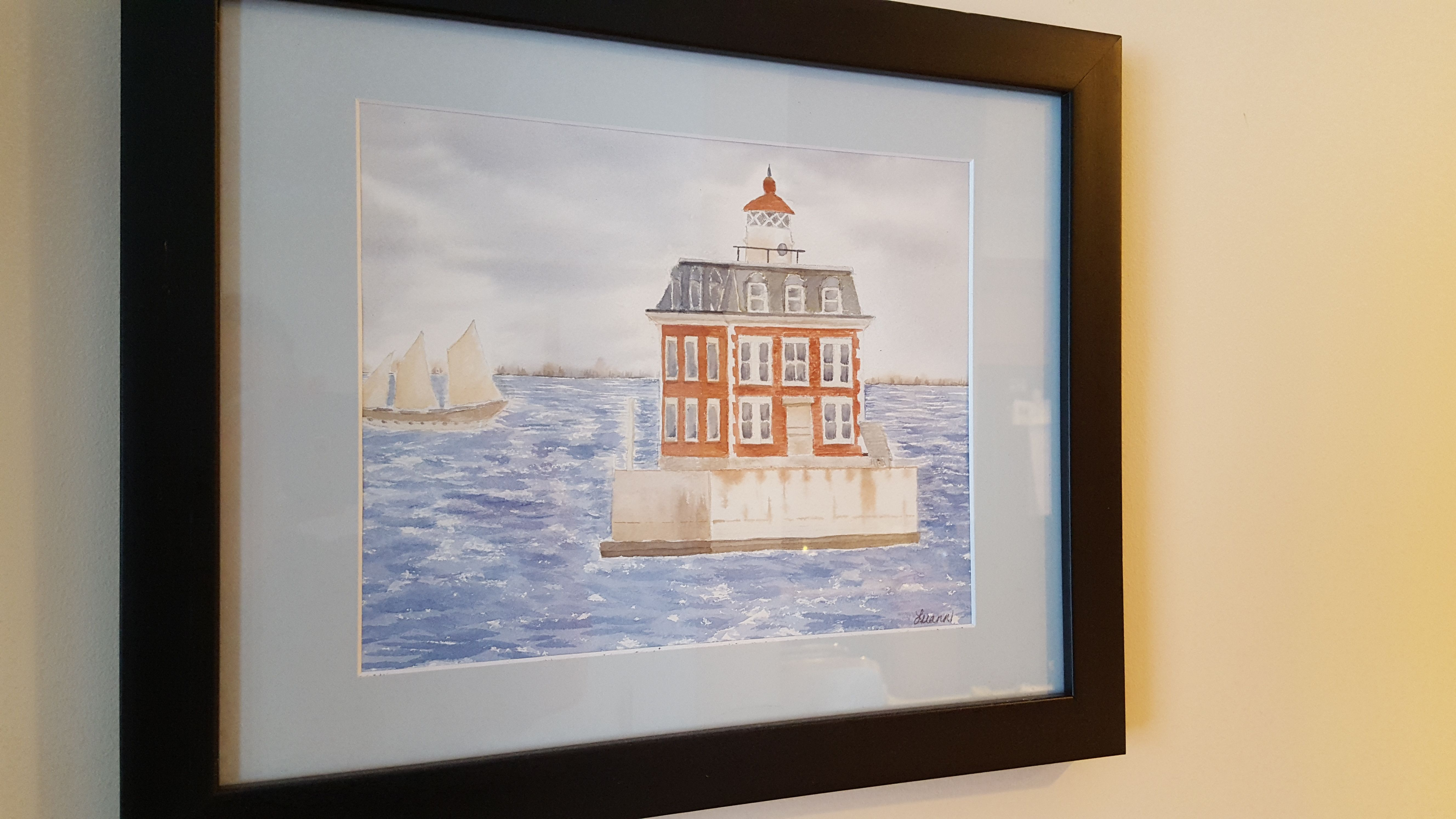 New London Ledge original watercolor by Luann Ripp