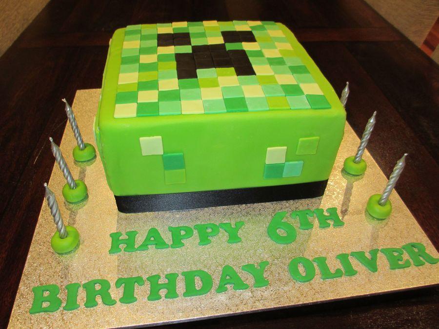 Minecraft Creeper 6th Birthday Cake Children S Birthday