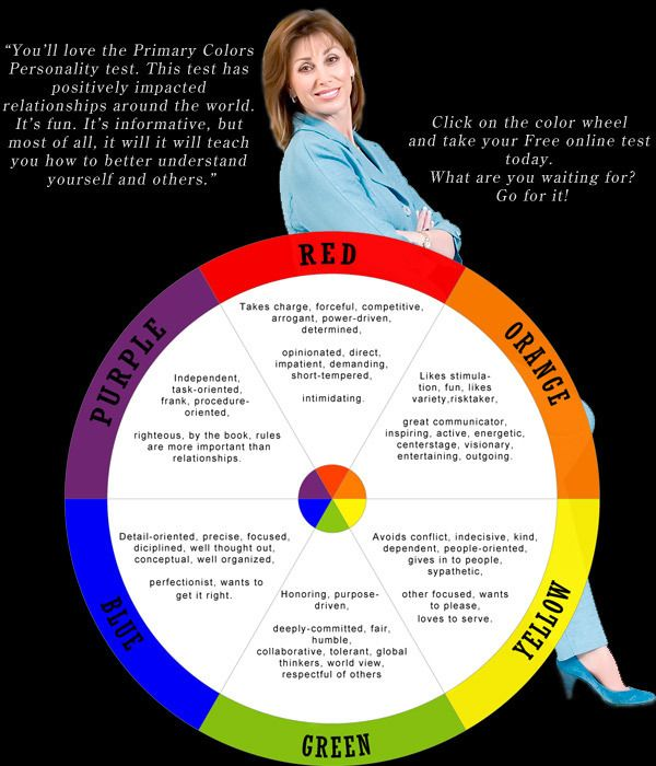 Personality In Colors Red Green Yellow Blue What Does Your Favorite Color Say About .