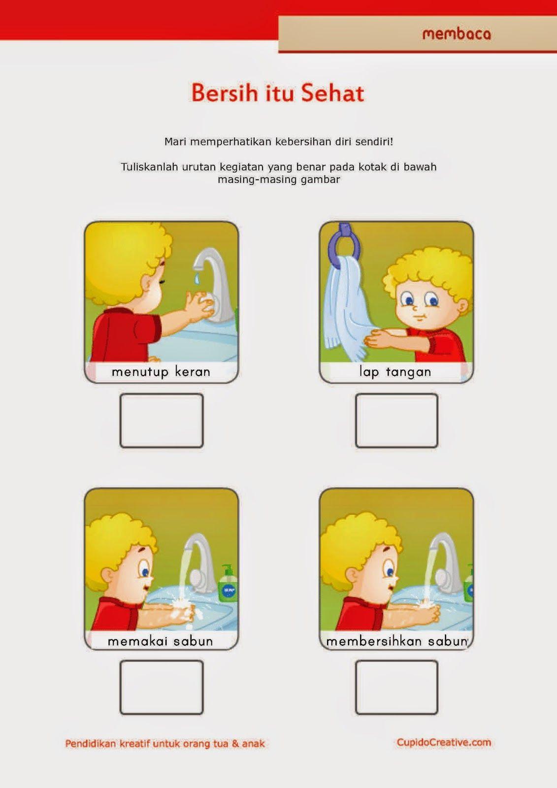 belajar membaca untuk SD kelas 1, belajar kebersihan pribadi untuk ...