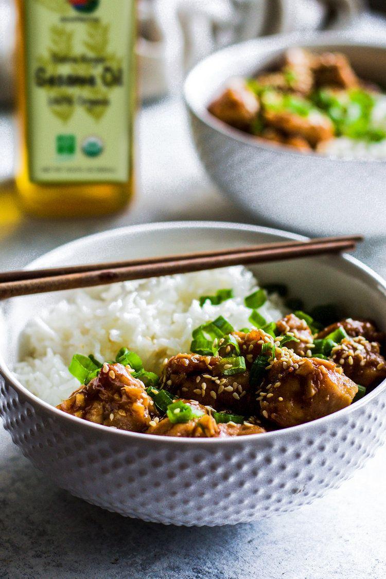 Spicy Garlic Sesame Chicken | Asian recipes, Food, Sesame ...