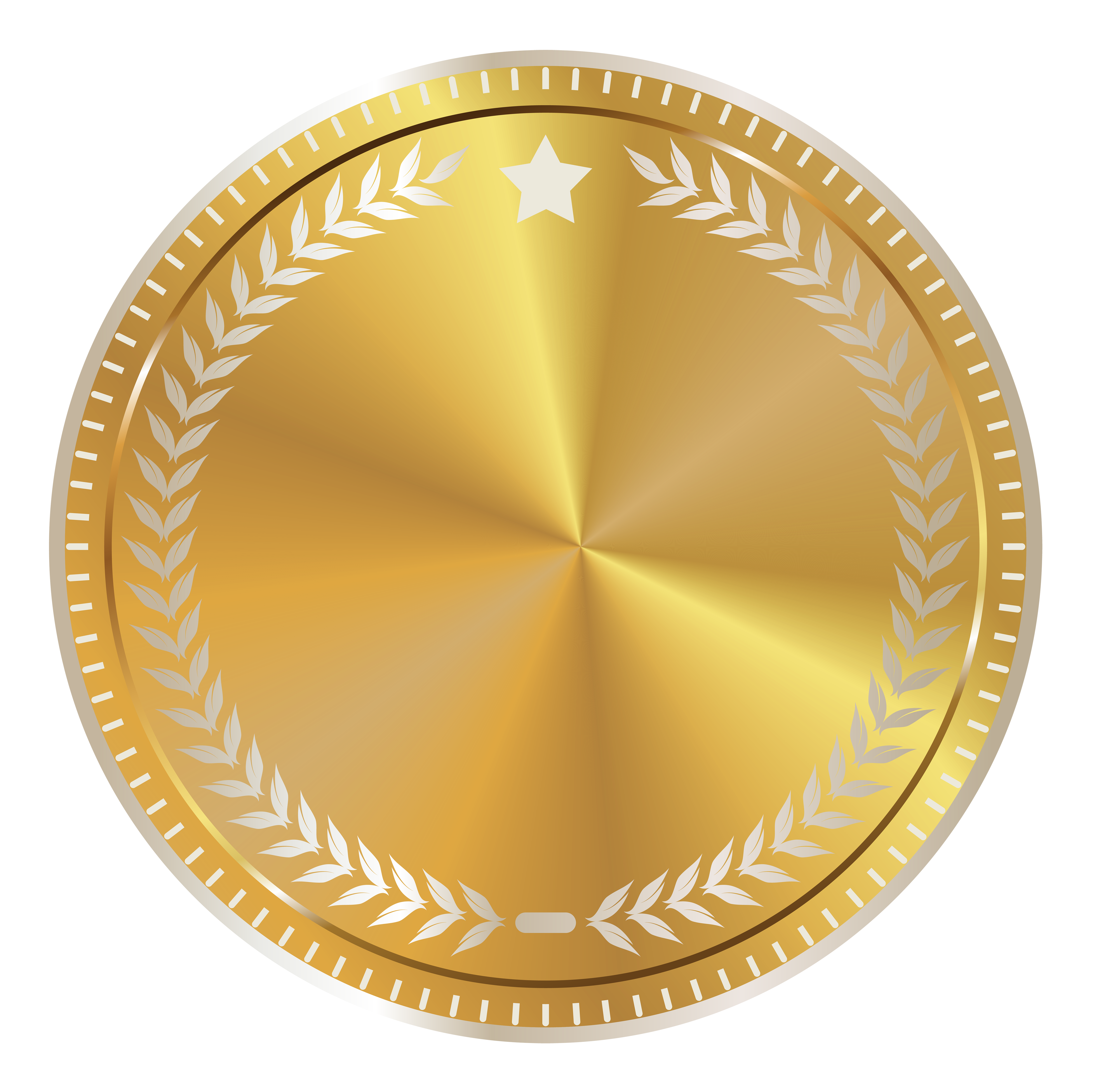 Gold Seal Badge With Decoration Png Clipart Image Bingkai Kartu Nama Kartu