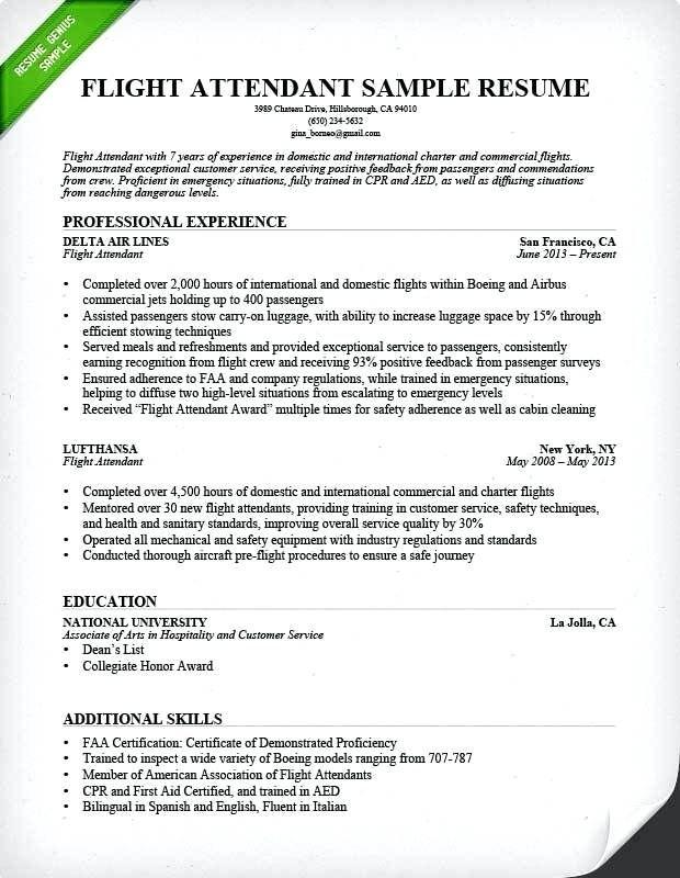 Flight Attendant Sample Resume Templates 2019 Sample Of Resume Letter Resume Letter Flight Attendant Resume Cover Letter For Resume Sample Resume Cover Letter