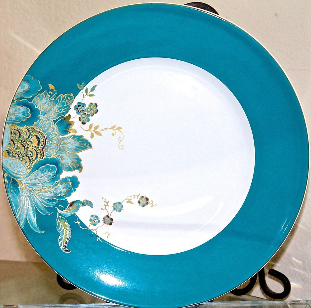 Details about 222 FIFTH ELIZA DINNER PLATES SET OF 4 11IN ROUND NEW ...