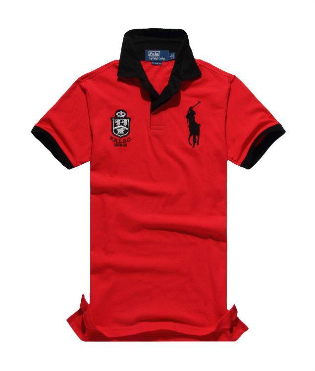 Polo Ralph Lauren Flag PRLSC Red T-Shirt,ralph lauren factory outlet,Save