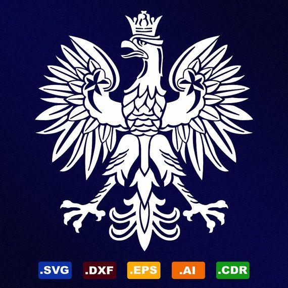 Polish Eagle Symbol Emblem Coat Of Arms Svg Dxf By