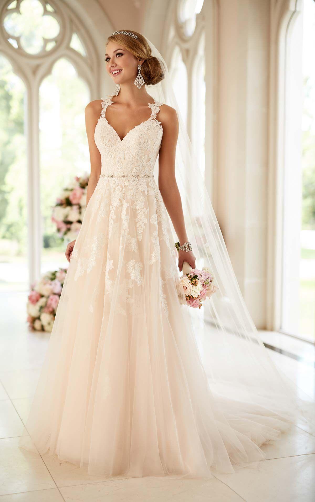 Lace Illusion Back Wedding Dress | Brautkleid, Brautschmuck und ...