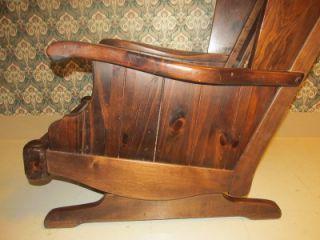 Perfect Ethan Allen Rocking Chair Antiqued Old Tavern Pine Framed Rocker 12 7630