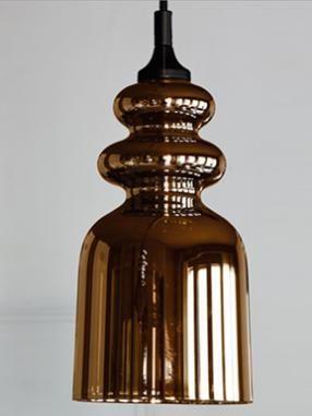 Messalina pendant - Diffusing bronze glass
