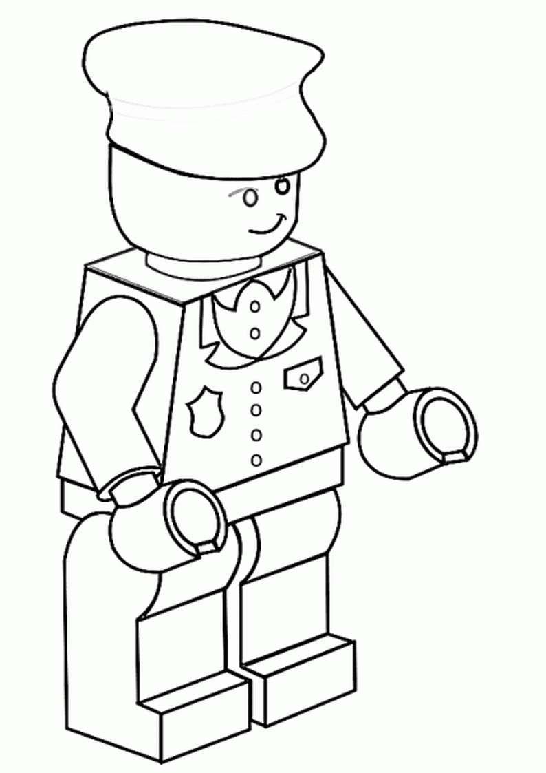 Do Wydruku Kolorowanka Lego Dla Dzieci Do Pomalowania Lego Ludzik
