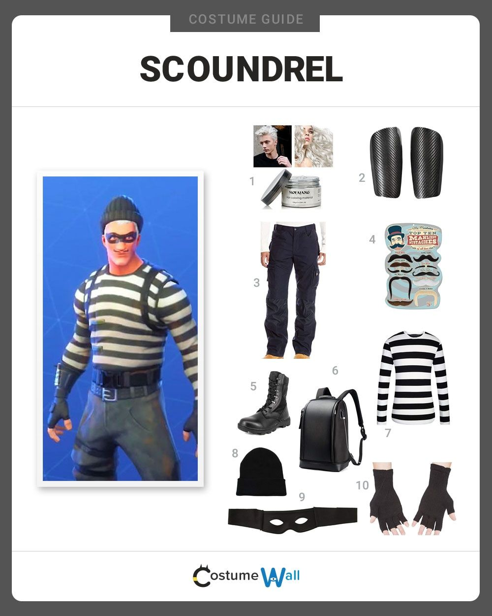 the best scoundrel costume guide online capture the look of this cool fortnite battle royale skin part of the epic jailbird set - fortnite baywatch skin