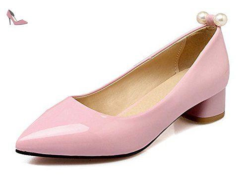 114cc94f7350e6 Aisun Femme Mode Talon Bloc Bout Pointu Escarpins Rose 36 - Chaussures aisun  (*Partner