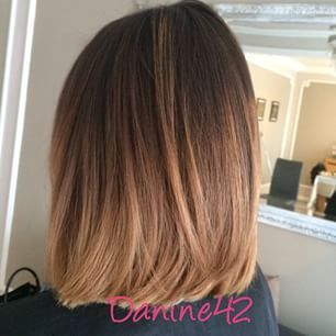 Ombre Hair Brown To Caramel To Blonde Medium Length Balayage Straig...