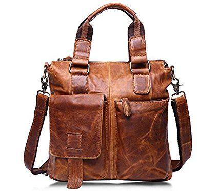 Borsa In Pelle Per Uomini · JHS Borsa in pelle di moda casual mens borsa  portatile spalla-lanciato marea lucido in 2272aed311a