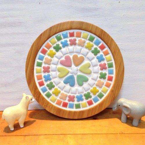鍋敷き 木工 タイルコースター 手作りおもちゃ 保育園