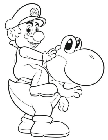 Mario Riding Yoshi Coloring Page From Yoshi Category Select From 25238 Printable Craf Super Mario Coloring Pages Pokemon Coloring Pages Cartoon Coloring Pages