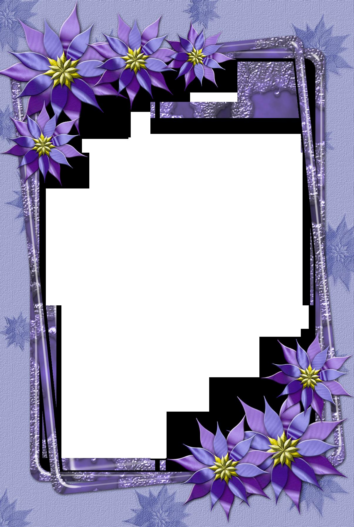 FlowersPictureFramewithGoldenFloralBorder.png (1200
