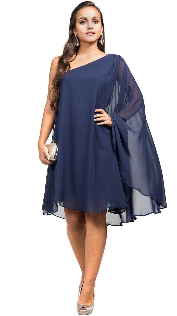 e91721029c alquiler vestido tunica azul noche invitada de dia