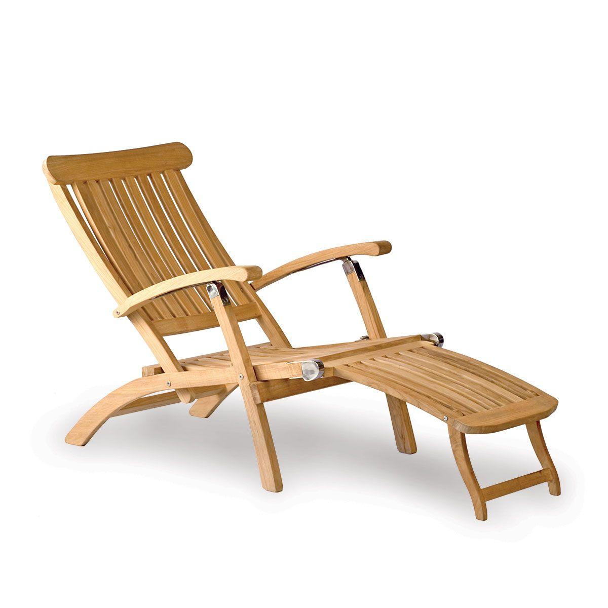 Classic Teak Steamer Chair Deck Chairs Teak Adirondack Chairs