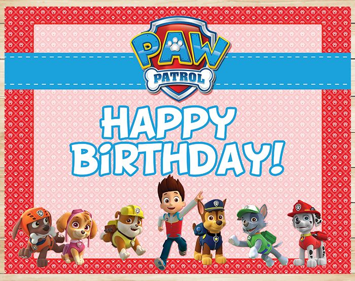 photograph relating to Paw Patrol Printable Birthday named Pin by means of Sara Smith upon Events inside 2019 Paw patrol birthday