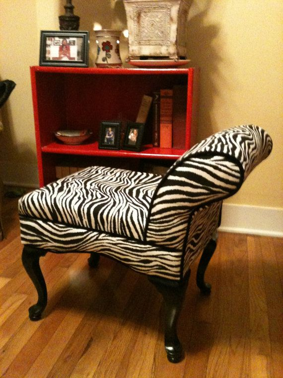 Vanity Chair Zebra Print By Merimeg On Etsy 99 00
