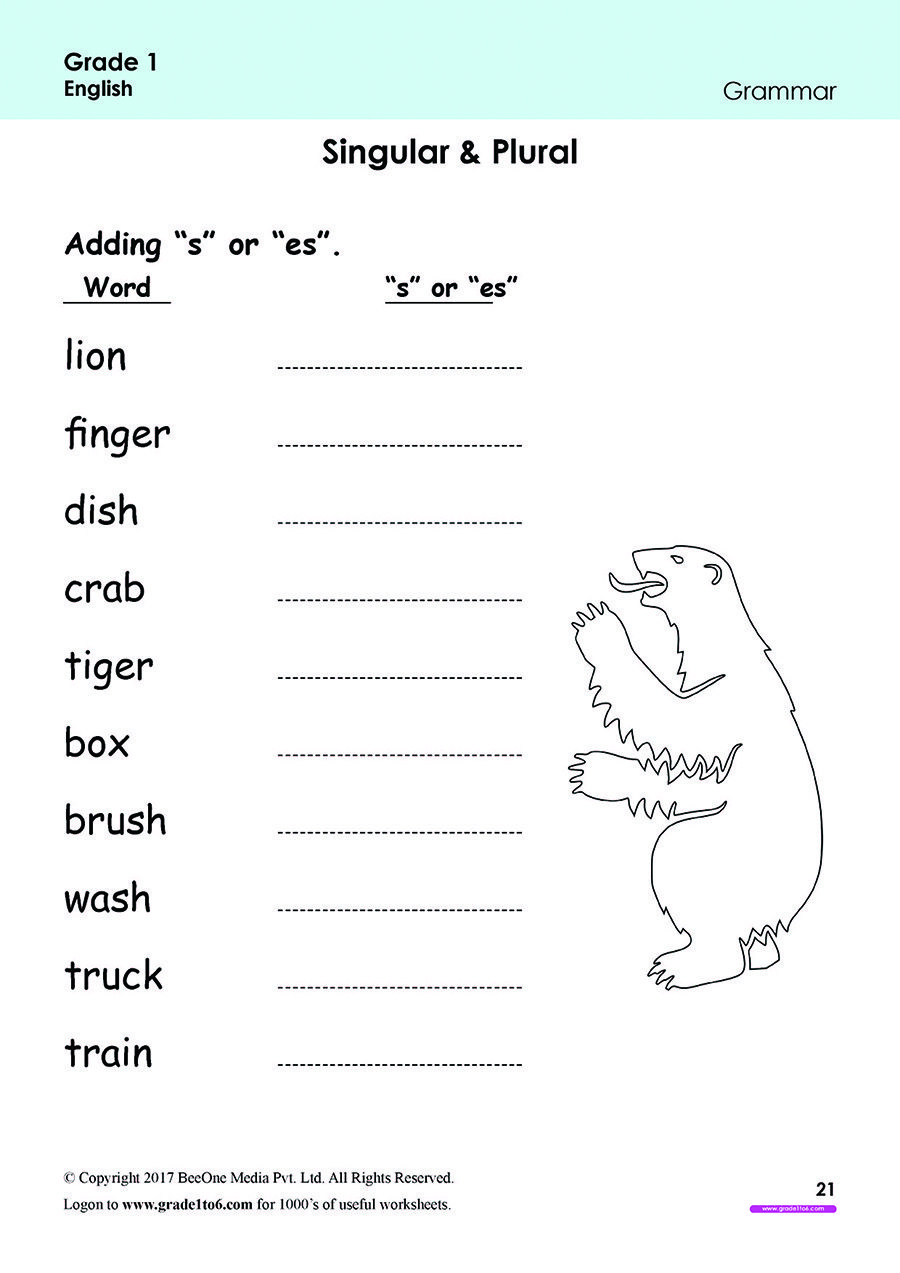 Pin on Grade 1 English Worksheets: PYP/CBSE/ICSE [ 1273 x 900 Pixel ]