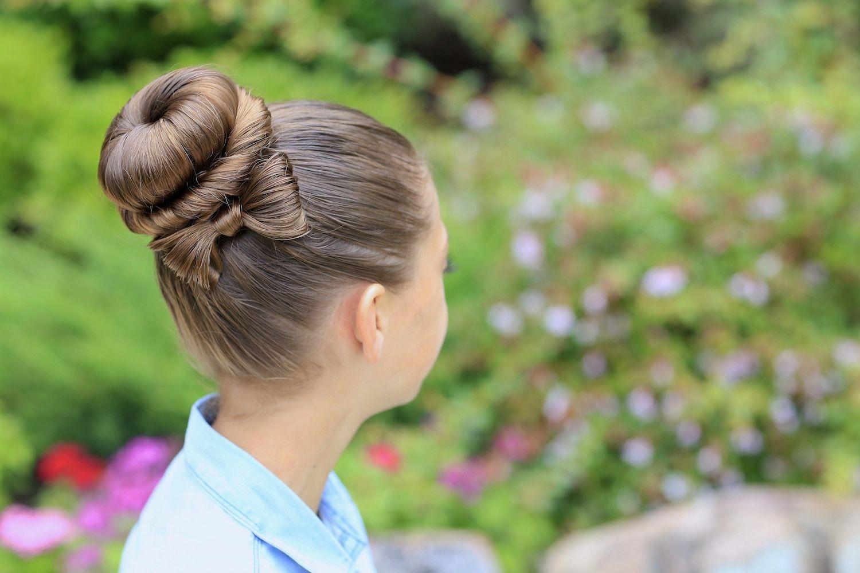 Awesome Красивая прическа бант на длинные волосы фото