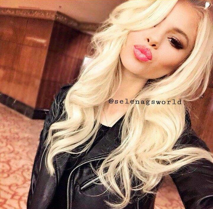 Selena Gomez Edit Hair Styles Platinum Blonde Hair Hair