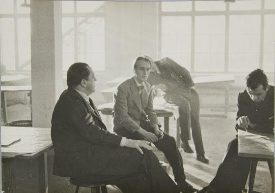 Ludwig Mies Van Der Rohe With Students At The Bauhaus Berlin 1933