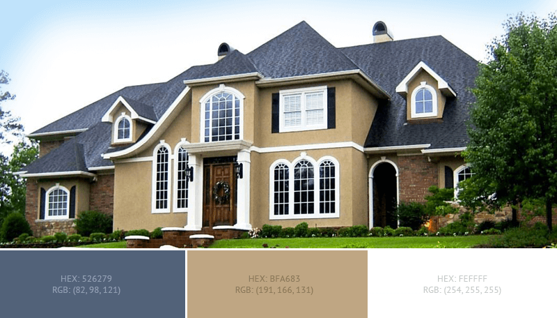 This Wonderful House Exterior Has 3 Colors Combination With Dark Electric Blue Lig In 2020 House Exterior Blue White House Exterior Colors Exterior Color Combinations