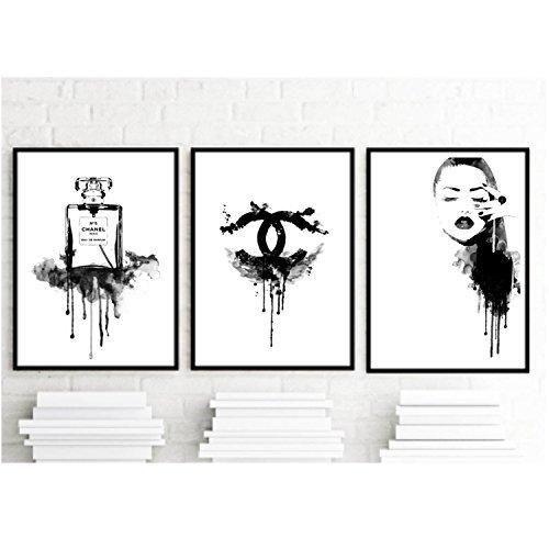 8 5x11 set of 3 art prints coco chanel inspirational print home